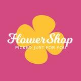 Blumenladen-Blumengeschenk-Badekurort-Salon-Logo Lizenzfreie Stockbilder