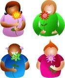 Blumenleute Stockfotos
