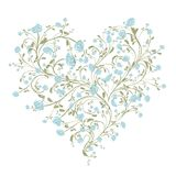 Blumenliebesblumenstrauß für Ihr Design, Herzform lizenzfreie abbildung