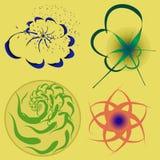 Blumenlogo Stockfotos