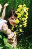 Blumenmädchen Stockbilder