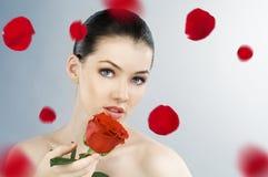 Blumenmädchen Lizenzfreies Stockfoto