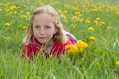 Blumenmädchen Lizenzfreies Stockbild