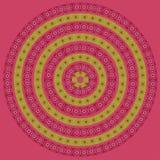 Blumenmandala des bunten Kreises Stockbild