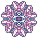 Blumenmandalen Dekorative Elemente der Weinlese Stockfotos