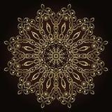Blumenmandalen Dekorative Elemente der Weinlese Orientalisches Muster im Stil des Islams, Arabisch, Inder, das Türkische, Pakista Lizenzfreies Stockbild