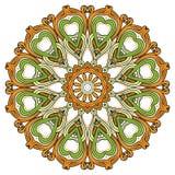 Blumenmandalen Dekorative Elemente der Weinlese Orientalisches Muster im Stil des Islams, Arabisch, Inder, das Türkische, Pakista Stockbilder