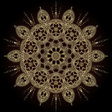 Blumenmandalen Dekorative Elemente der Weinlese Orientalisches Muster im Stil des Islams, Arabisch, Inder, das Türkische, Pakista Lizenzfreie Stockfotos