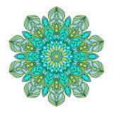 Blumenmandalen Dekorative Elemente der Weinlese Orientalisches Muster, Vektorillustration Islam, Arabisch, das indische Türkische stock abbildung