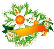 Blumenmarkierungsfahne Lizenzfreies Stockfoto