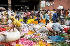 Blumenmarkt, Kolkata, Indien Stockfoto