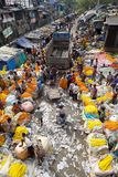 Blumenmarkt, Kolkata, Indien Lizenzfreie Stockfotografie
