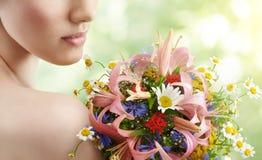 Blumenmädchen Lizenzfreie Stockfotos