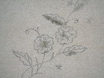Blumenmotivweinlesestoff Stockfotos