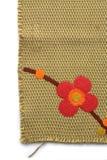 Blumenmuster auf chinesischem Gewebe Stockbilder