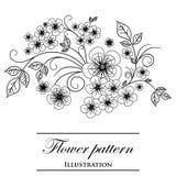 Blumenmuster auf einem weißen Hintergrund Lizenzfreies Stockfoto