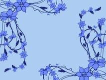 Blumenmuster dekorativ Stockfotografie