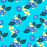 Blumenmuster in den blauen Farben vektor abbildung