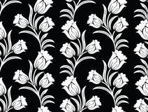Blumenmuster der nahtlosen Vektortulpe stock abbildung