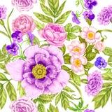 Blumenmuster der nahtlosen Weinlese vektor abbildung