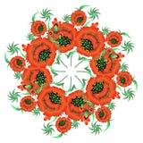 Blumenmuster in der nationalen Ukrainer Petrikovka-Art Stockbilder