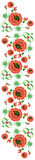Blumenmuster in der nationalen Ukrainer Petrikovka-Art Lizenzfreies Stockfoto