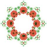 Blumenmuster in der nationalen Ukrainer Petrikovka-Art Lizenzfreies Stockbild