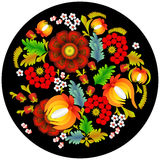 Blumenmuster in der nationalen Ukrainer Petrikovka-Art Stockfotografie