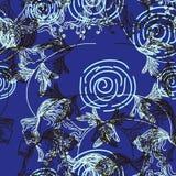 Blumenmuster in der Retro- Art vektor abbildung