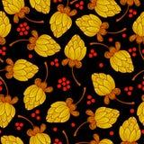 Blumenmuster in der russischen Art stock abbildung
