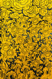 Blumenmuster in der traditionellen thailändischen Artkunstmalerei Lizenzfreie Stockbilder