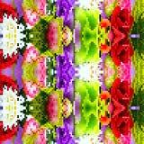 Blumenmuster des abstrakten bunten Hintergrundes Stockbild