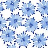 Blumenmuster des nahtlosen Aquarells Stockbilder