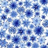 Blumenmuster des nahtlosen Aquarells Stockfoto