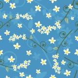 Blumenmuster des nahtlosen Frühlinges - Vektor Lizenzfreies Stockbild