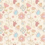 Blumenmuster des nahtlosen Hintergrundes Lizenzfreie Stockfotografie