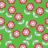 Blumenmuster des nahtlosen Vektors und nahtloser Rüttler Lizenzfreie Stockbilder