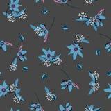 Blumenmuster dunkler suumer Garten Blüte im Blühen botan stock abbildung