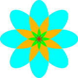 Blumenmuster in einem Quadrat lizenzfreie abbildung