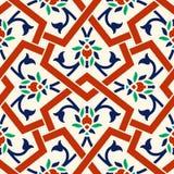 Blumenmuster für Ihre Auslegung Nahtlose Verzierung traditioneller türkischer ï ¿ ½ Osmane Iznik stock abbildung