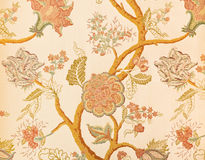 Blumenmuster in gemaltem Papier Lizenzfreies Stockfoto