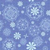 Blumenmuster im Blau Stockbilder