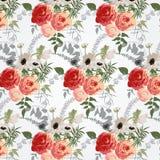 Blumenmuster im Retrostil Stockfotografie