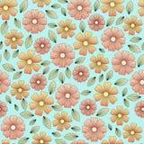Blumenmuster mit Blättern und den Blumenblättern vektor abbildung