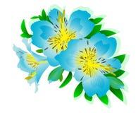 Blumenmuster mit dem Bild der Lilie Lizenzfreie Stockfotos