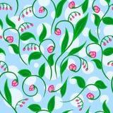 Blumenmuster mit Punkten lizenzfreie abbildung