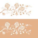 Blumenmuster mit Rosen Lizenzfreies Stockbild