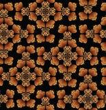 Blumenmuster nahtlos in der russischen Art. Lizenzfreies Stockfoto