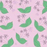 Blumenmuster-Purpurhintergrund Stockfotografie