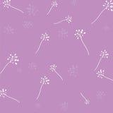 Blumenmuster-Purpurhintergrund Lizenzfreies Stockbild